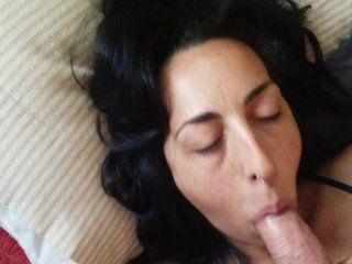 Amateur white lick dick load cumm on face