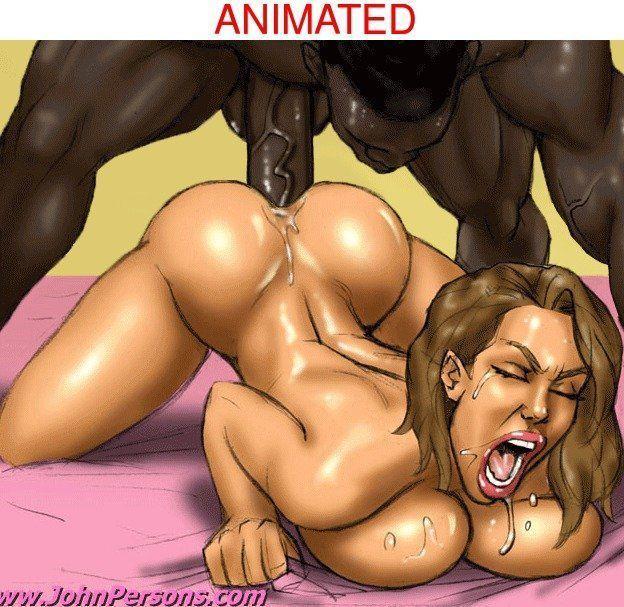 interracial cartoon porno