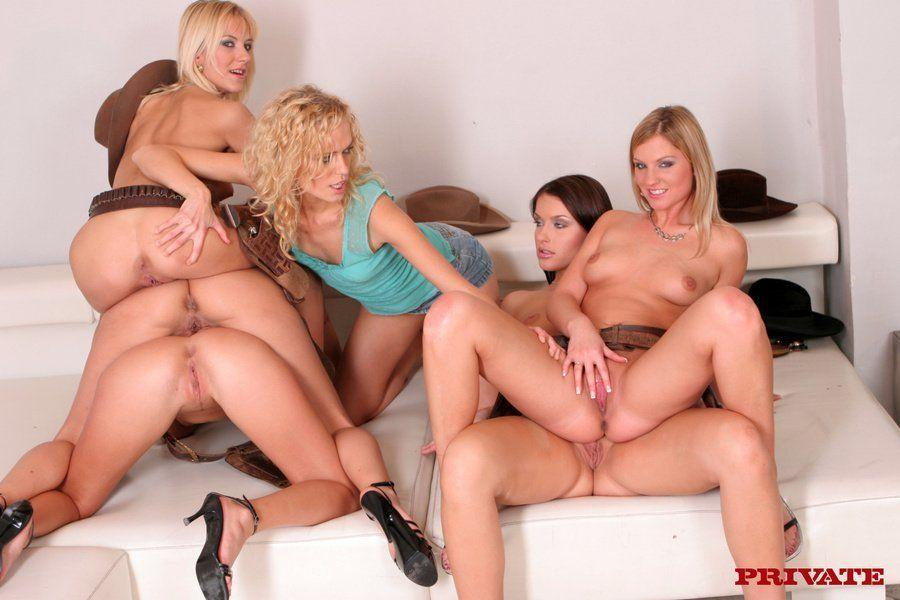 Massive female orgy