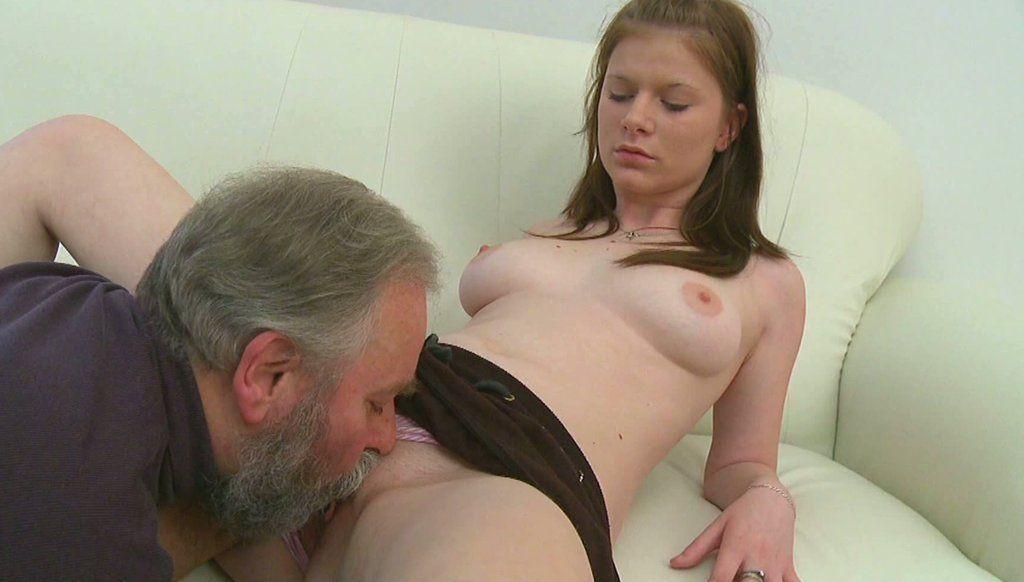 Mature men licking