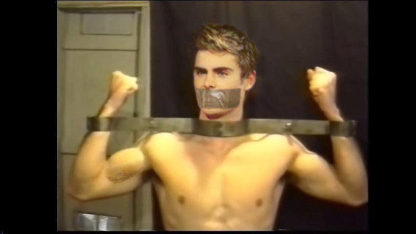 Male male male bondage chains rope captivity