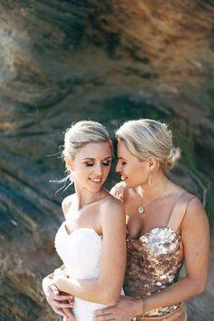 Wedding party kiss lesbian video