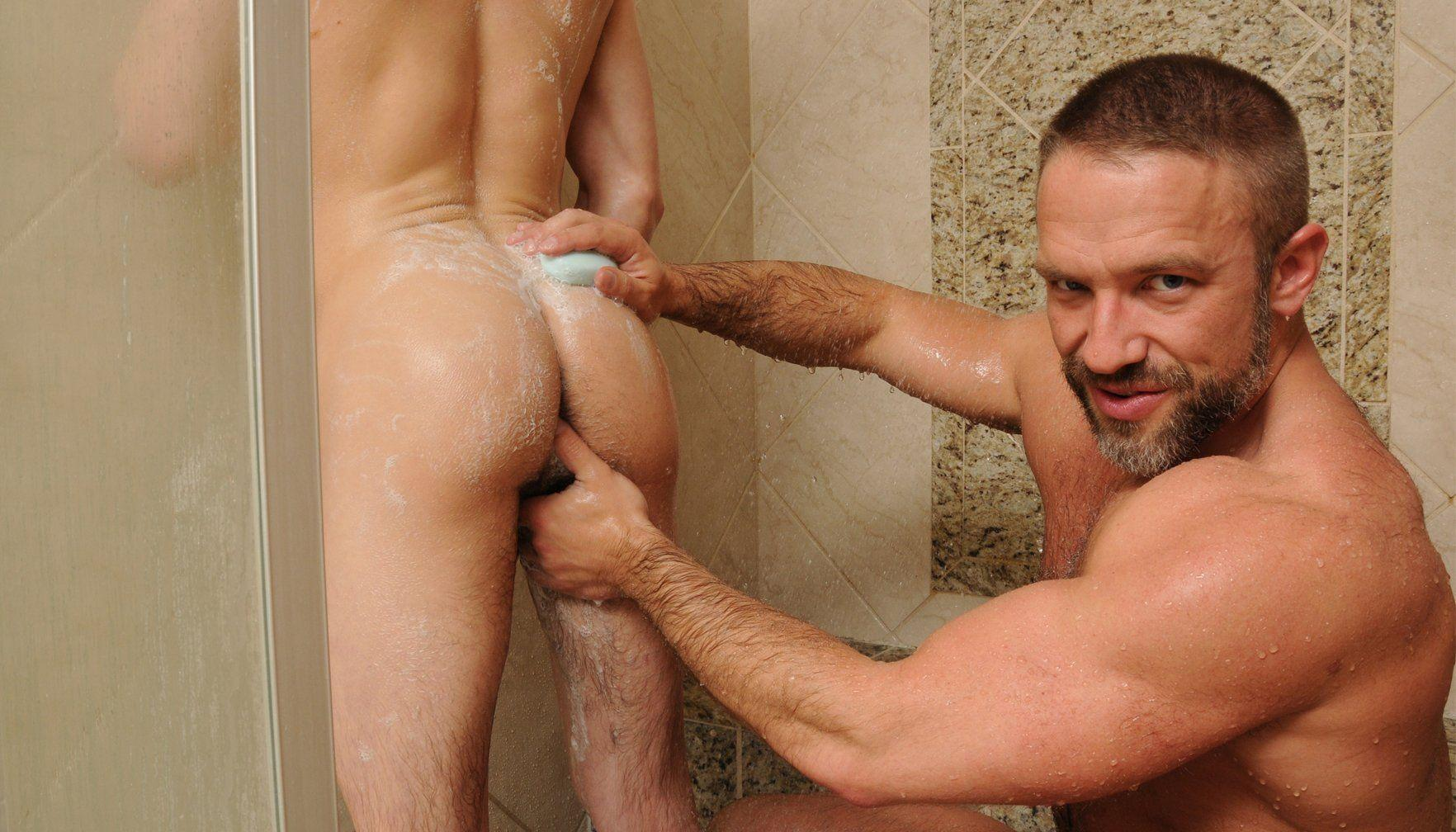 Father son shower porn