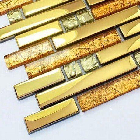 Golden strip glass