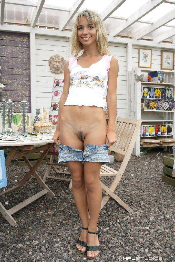best of Teen in shop Nude