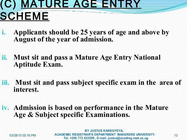 Porky reccomend Mature age test