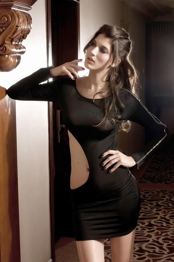 Erotic black dress