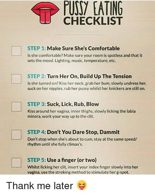 Scratch reccomend Make me hot lick my cunt