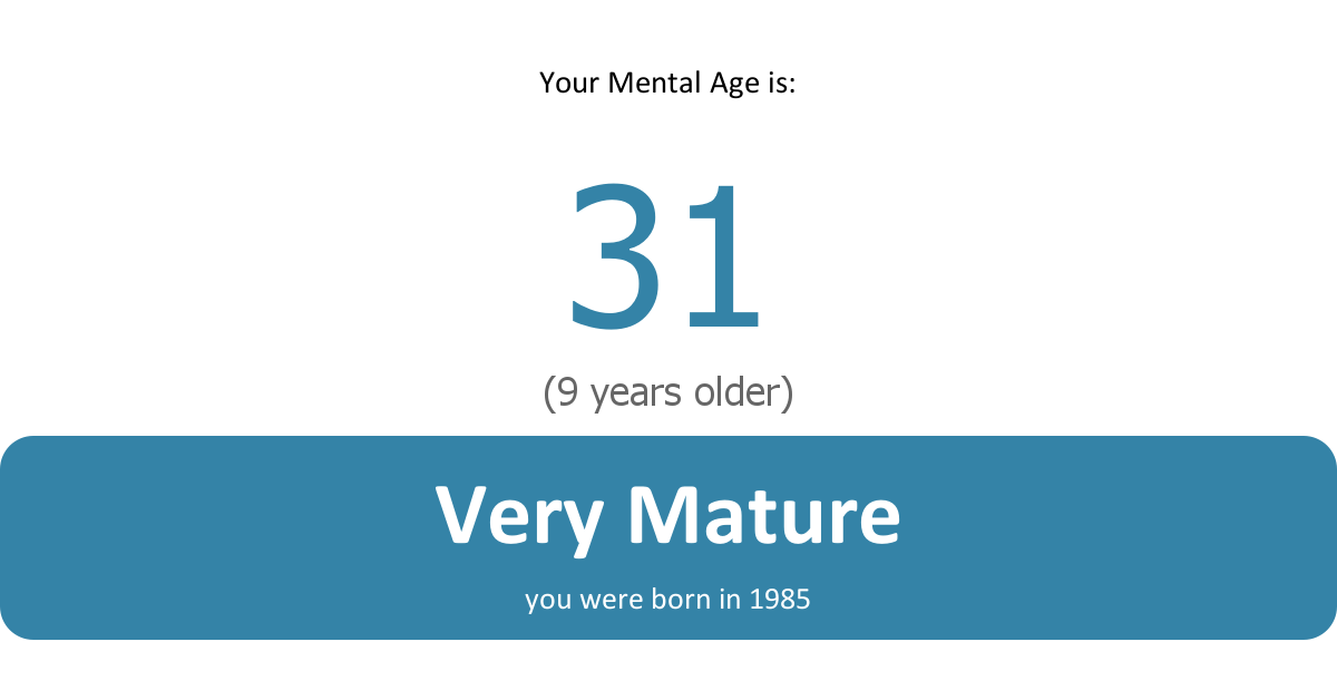 Canine reccomend Mature age test