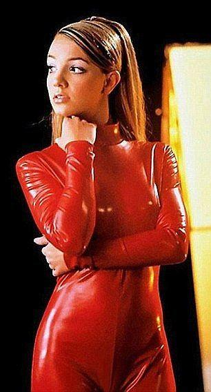 Crystal latina in red latex