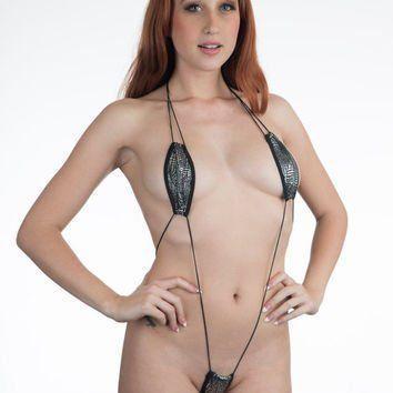 slingshot topless Bikini micro mini thong