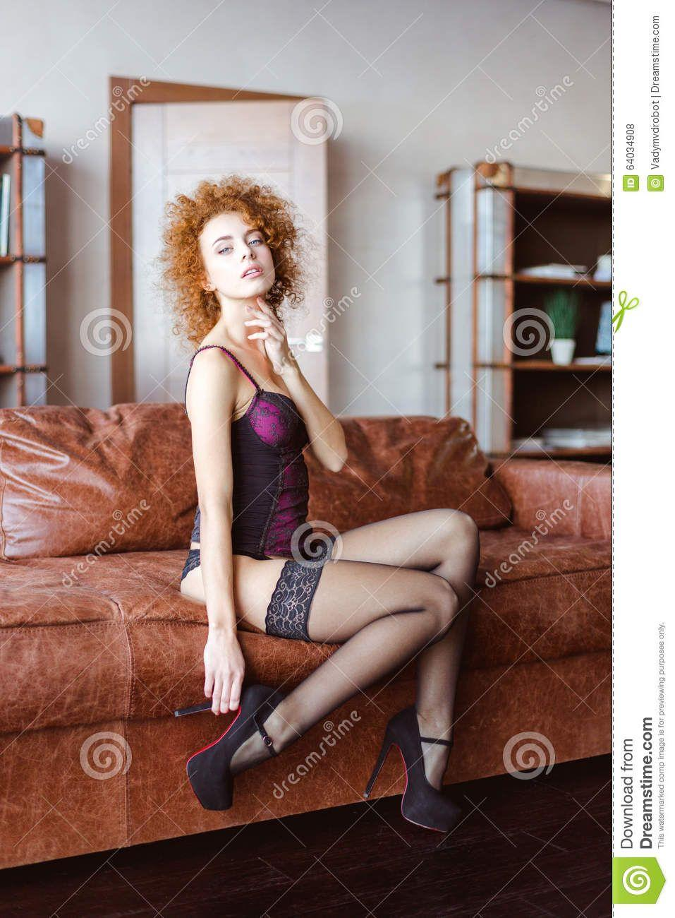 best of Redhead sofa Mature