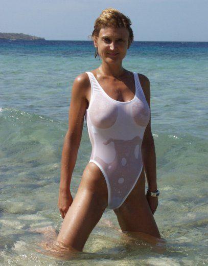 Bikini see thru wet