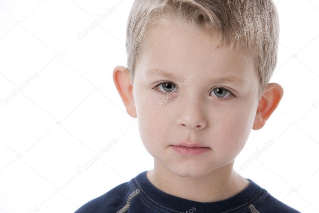 Blank facial expression
