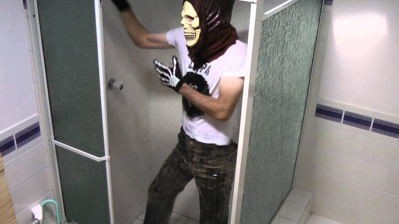Clothed gay shower