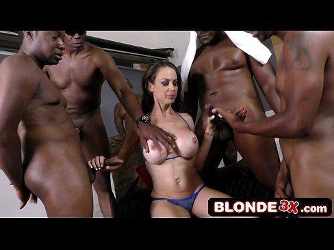 Porn orgy with one girl