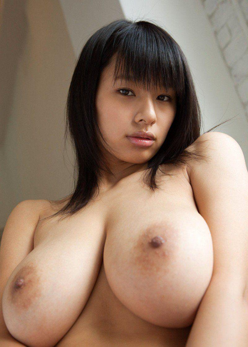 Busty and topless asian
