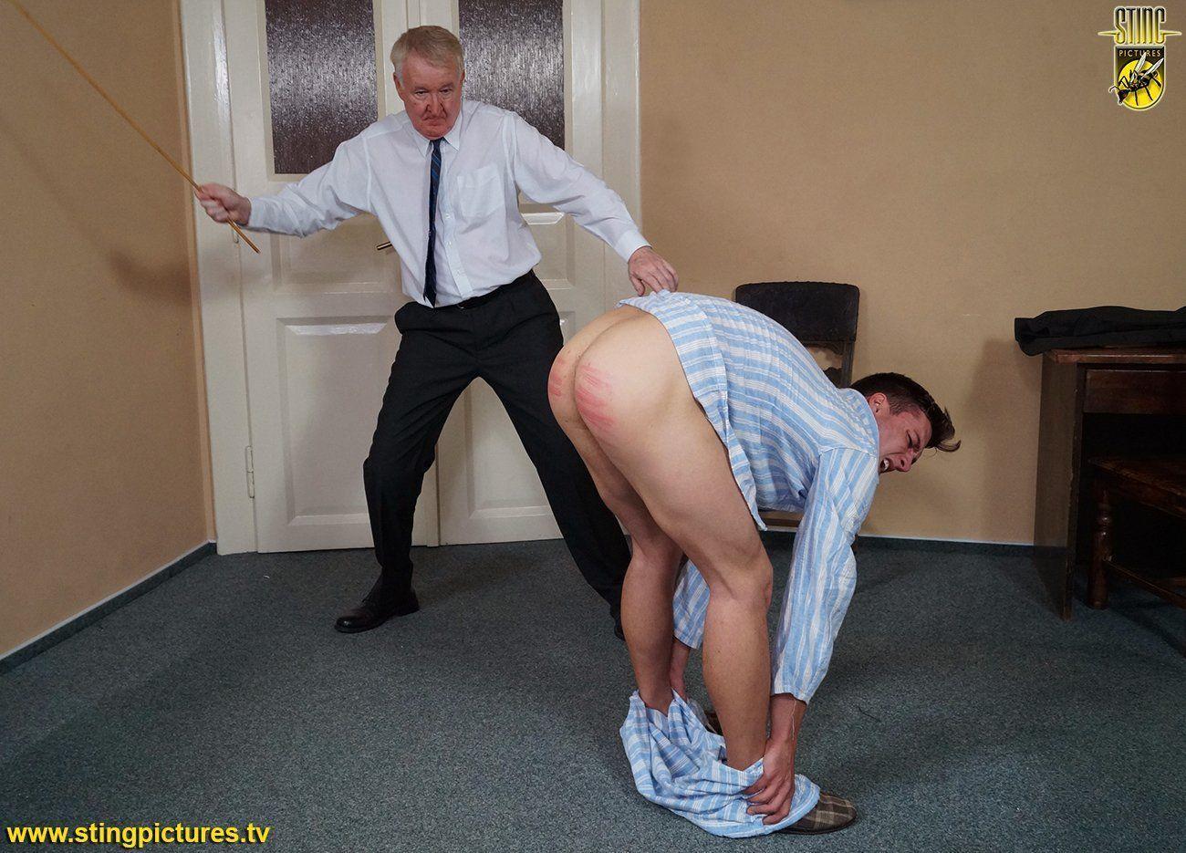 Female care taker strips spank boy