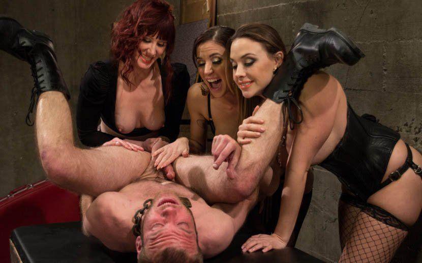 Female domination male milking