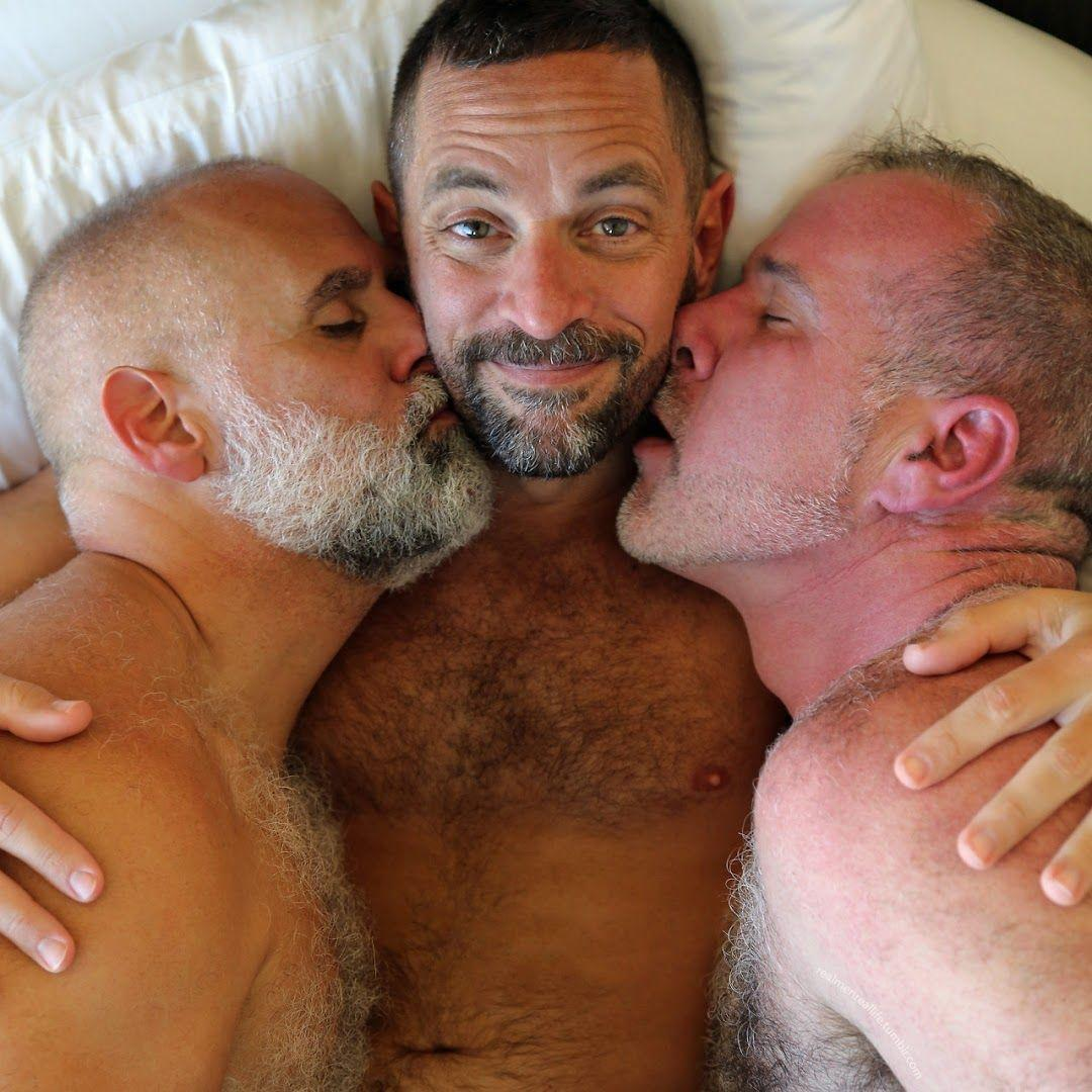 Gay male threesome