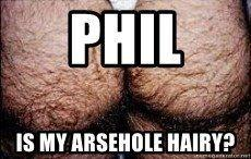 Hairy arse hole