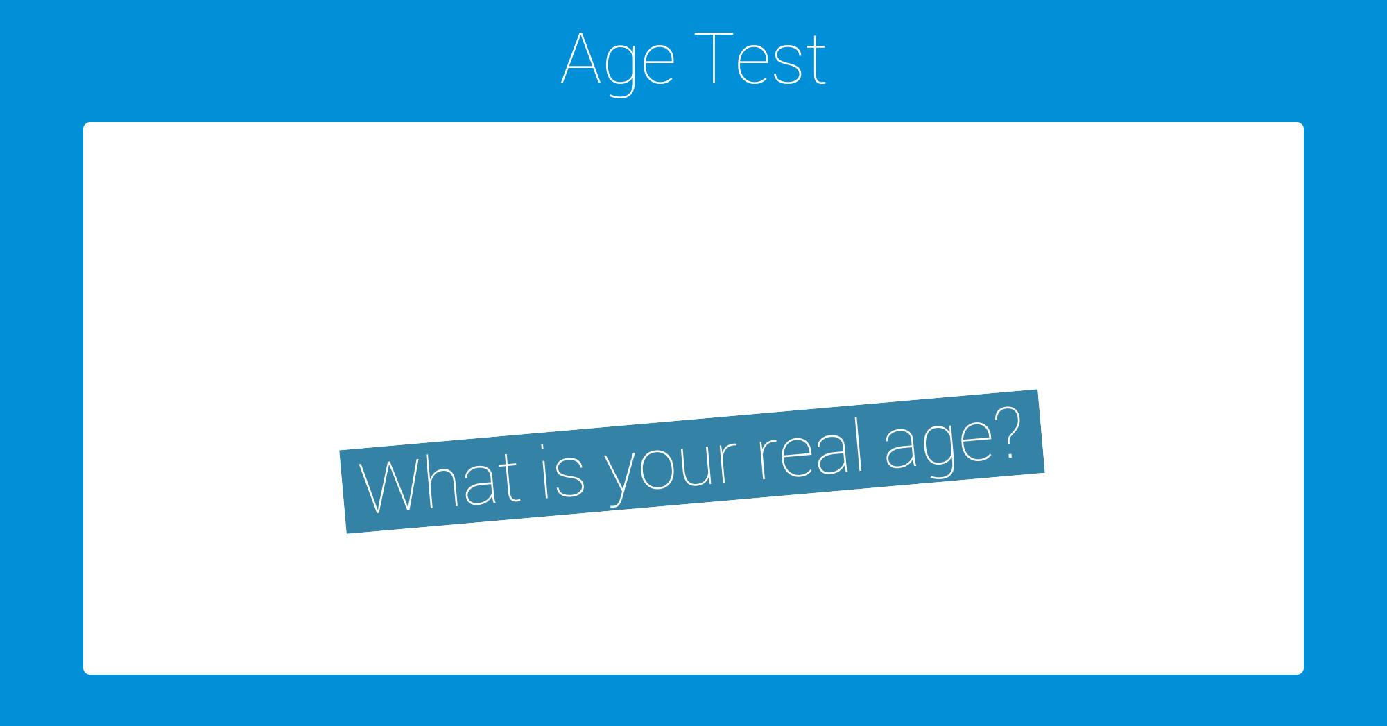 Ella reccomend Mature age test