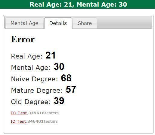 Mature age test