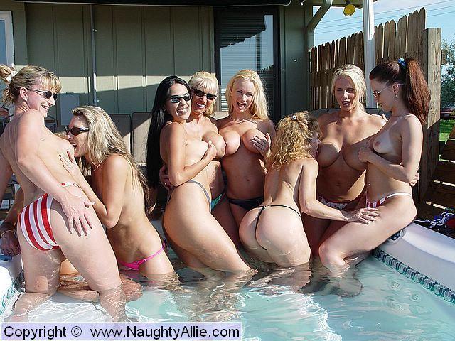 Allie orgy naughty lesbian