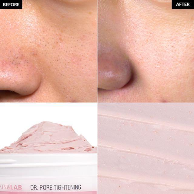 Pink facial mask
